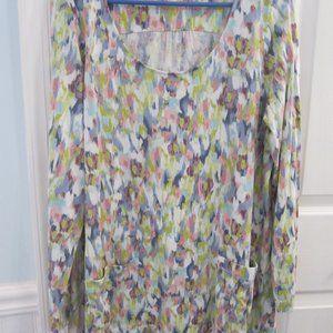 J.Jill Gorgeous Abstract print  tunic top L